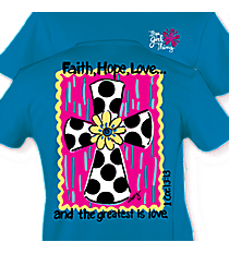 """Faith, Hope, Love"" Sapphire T-Shirt #7292 *Choose Your Size"
