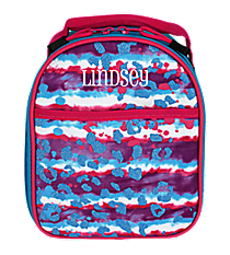 Glitter Leopard Tie Dye Backpack Style Insulated Lunch Bag #74151