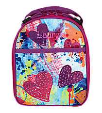 Sparkling Hearts Backpack Style Insulated Lunch Bag #74251