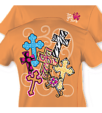 Cross Medley Tangerine T-Shirt #7446 *Choose Your Size