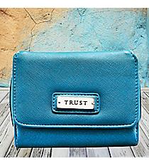 Blue 'Trust' Wallet #WT090