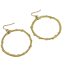 "2"" Goldtone Hoop Earrings #7805E-GD"