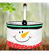 Snowman Mini Collapsible Market Basket #80001