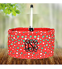 Christmas Dots Collapsible Market Basket #80112-DOTS