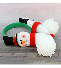 Plush Snowman Earmuffs #80466-GREENBAND
