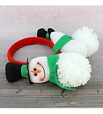 Plush Snowman Earmuffs #80466-REDBAND