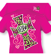 """Believe"" Hot Pink T-Shirt #8047 *Choose Your Size"