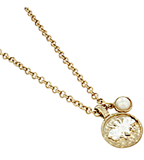 """18"""" Two-Tone Hammered Bee Necklace #8057N-BEE"""