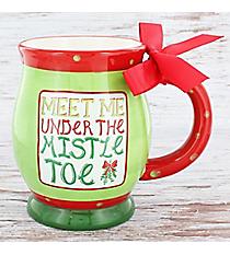 Meet Me Under the Mistletoe 16 oz. Footed Ceramic Mug #80874