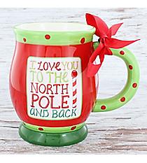 I Love You To The North Pole And Back 16 oz. Footed Ceramic Mug #80874