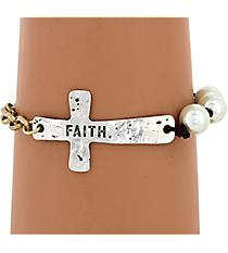 Faith Cross Bracelet #8091B-IV
