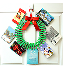 Clothespin Card Holder Wreath #81172