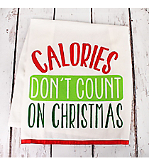 Calories Don't Count on Christmas Kitchen Towel #81275
