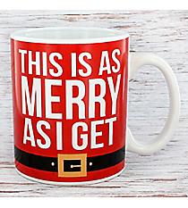 This Is As Merry As I Get 20 oz. Santa Coffee Mug #81372