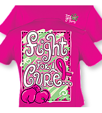 """Fight Like A Girl"" Hot Pink T-Shirt #8138 *Choose Your Size"