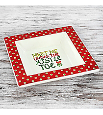Meet Me Under the Mistletoe Ceramic Tid-Bit Dish #81485
