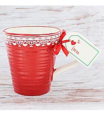 Red Nordic 16 oz. Ceramic Mug and Tag #81562