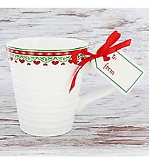 White Nordic 16 oz. Ceramic Mug and Tag #81562