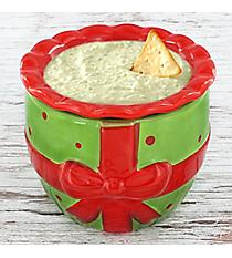 Green Present 2-Piece Ceramic Dip Chiller #81626