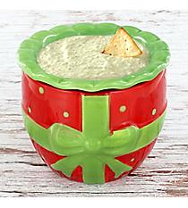 Red Present 2-Piece Ceramic Dip Chiller #81626