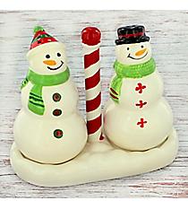 Ceramic Snowman Salt & Pepper Set #81630