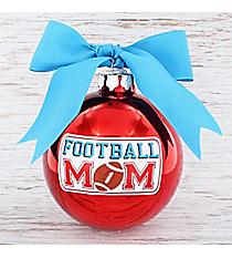 Football Mom Glass Ornament #81672