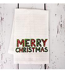 Merry Christmas Finger Towel #81688