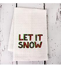 Let It Snow Finger Towel #81688