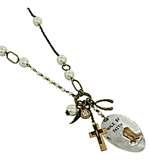 "36"" ""Walk by Faith"" Spoon Necklace #8325N"