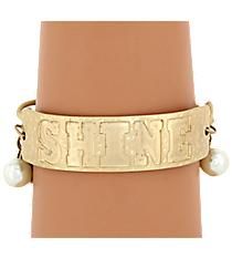 Goldtone Shine Charm Toggle Bracelet #8369B-SHINE