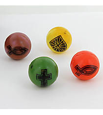 12 Colors of Faith Bouncing Balls #85/3706