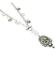 """25"""" Silvertone Fleur De Lis Pendant Necklace #8531N-FLEUR"""