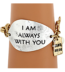 """I Am Always With You"" Two-Tone Toggle Bracelet #8571B-ALWAYS"