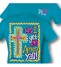 """Amen Y'all!"" Tropical T-Shirt #8580 *Choose Your Size"