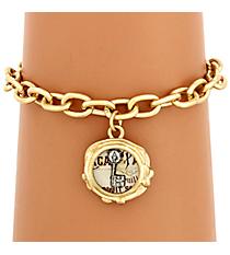 Goldtone Key Charm Bracelet #8600B-KEY