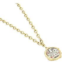 """16"""" Goldtone Fleur De Lis Pendant Necklace #8600N-FLEUR"""