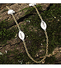 "36"" Two-Tone Football Necklace #8693N-FOOTBALL"