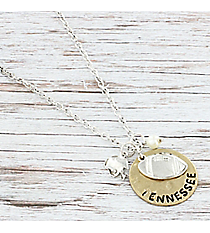 Two-Tone Tennessee Football Charm Necklace #8702N-TN