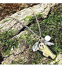 "17"" Goldtone Cheer Charm Necklace #8704N-CHEER"