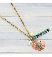 """31"""" Patina Faith Cluster Necklace #8736N-FAITH"""