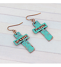 Patina Faith Cross Earrings #8757E-FAITH