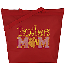 Team Mom and Paw Print Large Zipper Tote #8802-SP47 *Customizable!