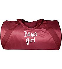 """18"""" Maroon Barrel-Sided Duffle Bag #8805-MAROON"""