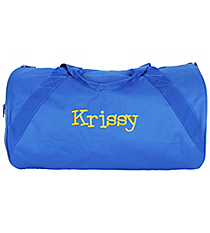 "18"" Royal Blue Barrel-Sided Duffle Bag #8805-ROYAL"