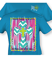 """Delight Yourself in the Lord"" Heather Sapphire T-Shirt #8879 *Choose Your Size"