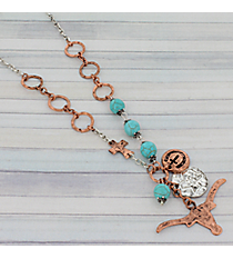 "21"" Two-Tone Longhorn Necklace #8879N"