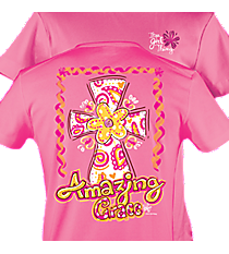 """Amazing Grace"" Bright Pink T-Shirt #8880 *Choose Your Size"