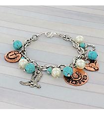 Western Theme Charm Bracelet #8880B