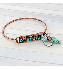 Coppertone Blessed Hook Bracelet #8908B-BLESSED