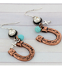Coppertone Horseshoe Earrings #8916E-HORSESHOE